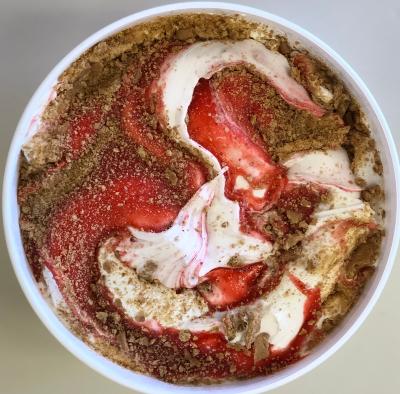 Strawberry Cheesecake Homemade Ice Cream